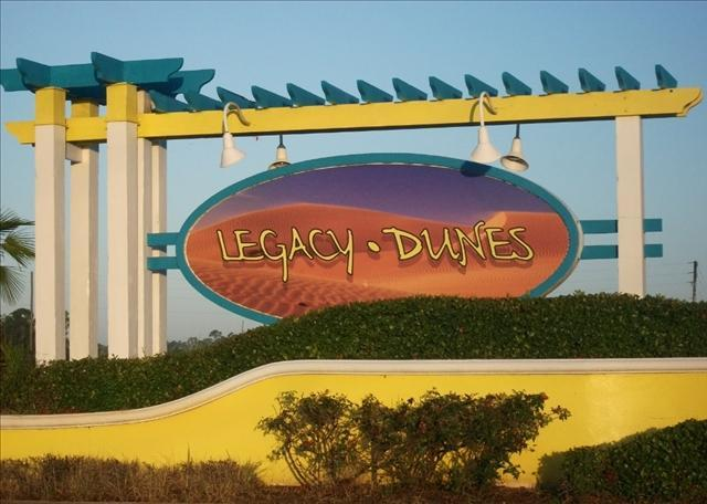 Condos for rent in the Disney World area - Legacy Dunes Road Sign